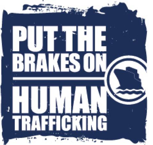 Transportation Leaders Against Human Trafficking Vertical Ship Logo